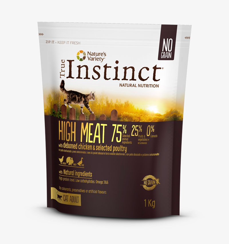 True Instinct gatos packaging